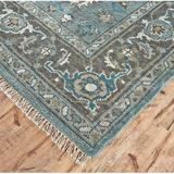 Birch Lane™ Leilani Oriental Hand-Knotted Wool Steel/Chocolate Blue Area Rug Wool, Size 96.0 H x 30.0 W x 0.45 D in | Wayfair