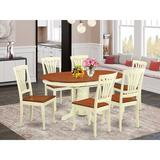 Alcott Hill® Denis Butterfly Leaf Rubberwood Solid Wood Dining Set Wood in Brown/White, Size 30.0 H in   Wayfair 1F070FF117B341FE9FDBAFD4B9F5D85C