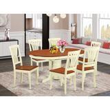 Alcott Hill® Denis Butterfly Leaf Rubberwood Solid Wood Dining Set Wood in Brown/White, Size 30.0 H in | Wayfair 1F070FF117B341FE9FDBAFD4B9F5D85C