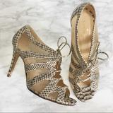 Kate Spade Shoes   Kate Spade Iver Snakeskin Leather Lace-Up Heels   Color: Brown/Cream   Size: 8