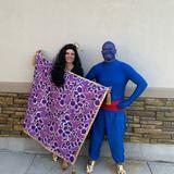 Disney Other | Disney Handmade Aladdin Genie Mens Costume Xl | Color: Blue/Red | Size: Os
