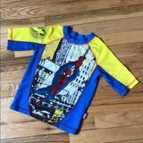 Disney Swim | Disney Store Marvel Spider-Man Rash Guard Size 56 | Color: Blue/Yellow | Size: 5b