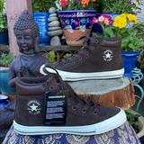 Converse Shoes | New Brown Suede Converse Boots Sz 6 | Color: Brown/White | Size: 6