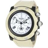 Glam Rock Women's GR10112 Miami Chronograph White Dial Beige Alligator Watch