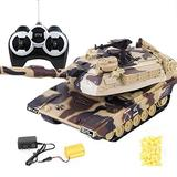 Idkska 1:32 Military War RC Battle Tank Heavy Large Interactive Remote Control Toy Car with Bullets Model Electronic Boy Toys