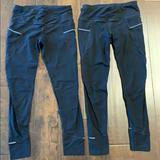 Athleta Pants & Jumpsuits | Athleta Reflective Tights (2 Pairs) | Color: Black | Size: S