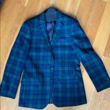 J. Crew Suits & Blazers   Brand New Mens Wool Black Watch Plaid Bl   Color: Blue/Green   Size: 40r