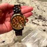 Michael Kors Accessories | Michael Kors Chronograph Watch | Color: Brown | Size: Face Of Watch Is 1.5 Inches