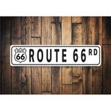 Lizton Sign Shop, Inc Route 66 Street Sign Metal in Black/White, Size 6.0 H x 24.0 W x 0.06 D in | Wayfair JW0062-A624