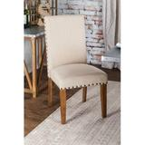 Gracie Oaks Aabid Upholstered Side Chair in BeigeWood/Upholstered/Fabric in Brown, Size 39.0 H x 19.5 W x 24.0 D in   Wayfair