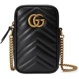 GG Marmont Mini Leather Shoulder Bag - Black - Gucci Shoulder Bags