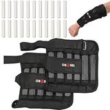 Wrist Arm Weights, Removable Wrist Ankle Weights, 11LB, Adjustable Ankle Weights, Weight Straps for Fitness, for Men Women, for Walking, Jogging, Gymnastics, Aerobics, 1Pair 2 Pack