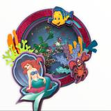Disney Party Supplies   Little Mermaid Cake Topper   Color: Pink/Purple   Size: 6 Inches Depends On The Cake