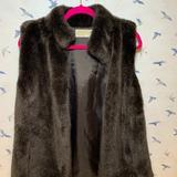 Michael Kors Jackets & Coats | Faux Rabbit Fur Vest Luxury By Michael Kors | Color: Brown/Tan | Size: M