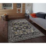 Bungalow Rose Ketilfrith Oriental Indoor/Outdoor Area Rug Polypropylene in Gray, Size 120.0 H x 96.0 W x 0.5 D in | Wayfair
