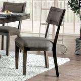 Gracie Oaks Cottondale Side Chair in Gray Wood/Upholstered/Fabric in Brown/Gray/Green, Size 37.0 H x 19.25 W x 24.75 D in | Wayfair
