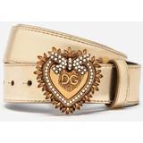 Devotion Belt In Laminated Calfskin - Metallic - Dolce & Gabbana Belts
