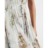 Vanilla Dip Hem Pleated Dress - White - Ted Baker Dresses