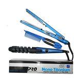 Uk Styler Set 3 In 1 Hair Straightening Flat Iron Hair Curler Electronic Nano Titanium Hair Curling Iron Ceramic Straightening Comb Styler Set