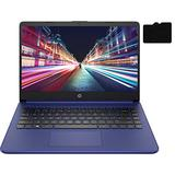 """2021 Newest HP Laptop, 14"""" HD Display, Intel Dual-Core Processor Up to 2.8GHz, 4GB DDR4 RAM, 192GB Storage (64GB eMMC + 128GB MicroSD), Webcam, Bluetooth, HDMI, Windows 10 + Oydisen MicroSD"""
