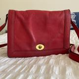 J. Crew Bags | J Crew Red Leather Crossbody Bag | Color: Red | Size: Os