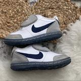 Nike Shoes   Infant Toddler Velcro Nike Blue White Baby Shoes   Color: Blue/Gray   Size: 5bb
