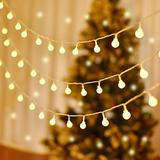 LUMINATERY 100 LED Mini Globe Ball String Lights, Fairy String Lights Plug in, 8 Lighting Modes, 43ft (Include Lead Wire), Perfect for Bedroom Party Tree Garden Christmas Indoor Outdoor (Warm White)