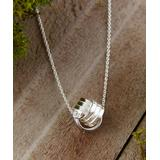 Vera & Co. Women's Necklaces white - Sterling Silver Knot Pendant Necklace