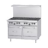 "Garland G48-4G24LL 48"" 4 Burner Gas Range w/ Griddle & (2) Space Saver Ovens, Liquid Propane"