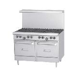 "Garland G48-8LL 48"" 8 Burner Gas Range w/ (2) Space Saver Ovens, Liquid Propane"