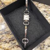Gucci Jewelry   Gucci Square Bracelet Horsebit Watch Silver Bangle   Color: Silver/White   Size: Os