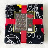 Disney Bedding   Disney Parks Mickey Minnie Park Icons Blanket   Color: Black/Red   Size: Os