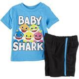 Baby Shark Toddler Boys 2-pc. Baby Shark Family Short Set