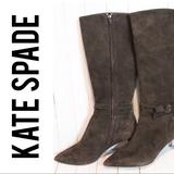 Kate Spade Shoes | Kate Spade Brown High Heeled Boots Bows Like New | Color: Brown | Size: 10
