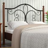 Mason & Marbles Open-Frame Headboard Wood/Metal/Wood & Metal in Black/Brown, Size 51.0 H x 40.13 W x 2.63 D in | Wayfair