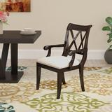 Gracie Oaks Aadya Upholstered Arm Chair in Wood/Upholstered/Fabric in Brown, Size 38.0 H x 23.0 W x 25.0 D in | Wayfair