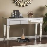 House of Hampton® Diorio Console Table Wood/Mirrored in Brown/Gray, Size 29.75 H x 46.0 W x 16.0 D in | Wayfair 0AA11D05642F451E887514F0C82F97EE