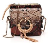 Printed Chain Strap Crossbody Bag - Brown - See By Chloé Shoulder Bags