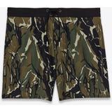 Camouflage Print Swim Shorts - Green - RIVE DROITE Shorts