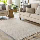 "Luncarty 2'6"" x 4' Moroccan Farmhouse Handmade Cotton Area Rug - Hauteloom"