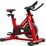 Poteti Exercise Bike Indoor Cycling Bicycle Stationary Bikes Fitness Exercise Sport Bike Cardio Workout Machine Upright Bike for Home Indoor Gym Cardio Gym Workout