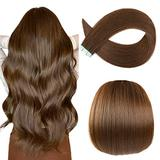 Sunya Tape in Human Hair Extensions 18 inches Silky Straight Remy Human Hair Seamless Skin Weft Tape in Human Hair Extensions 18 inches #4 Chocolate Brown 50 Gram 20Pcs/Pack Soft Hair