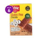 Schar Cookies - Chocolate Caramel Chocolix Bar - 6 Boxes of 5 Bars