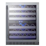 """Summit ALWC532CSS 23 1/2"""" One Section Wine Cooler w/ (2) Zones - 46 Bottle Capacity, 115v"""