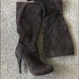 Nine West Shoes | Brown Suede Boots, Hidden Platform | Color: Brown | Size: 6