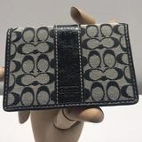 Coach Accessories   Coach F61224 Credit Card Holder Case Black   Color: Black/Red/White   Size: Os