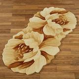"Felicity Floral Rug Runner Cream 2'6"" x 5'5"", 2'6"" x 5'5"", Cream"