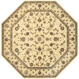 Charlton Home® Hildegard Oriental Wool Ivory/Area Rug Wool in Brown, Size 120.0 H x 120.0 W x 0.5 D in | Wayfair 10B30F5DF6CD4EEF9814CC51CAAA391B