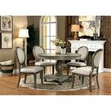 One Allium Way® Whitaker 5 - Piece Dining Set Wood/Upholstered Chairs in White, Size 30.0 H in | Wayfair 28934BB385DD4E7BB9B1609EB1315F4B