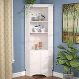 Red Barrel Studio® Crimmins Corner Display StandWood in Brown/Green/White, Size 72.0 H x 29.25 W x 18.75 D in   Wayfair RDBS6733 32537511